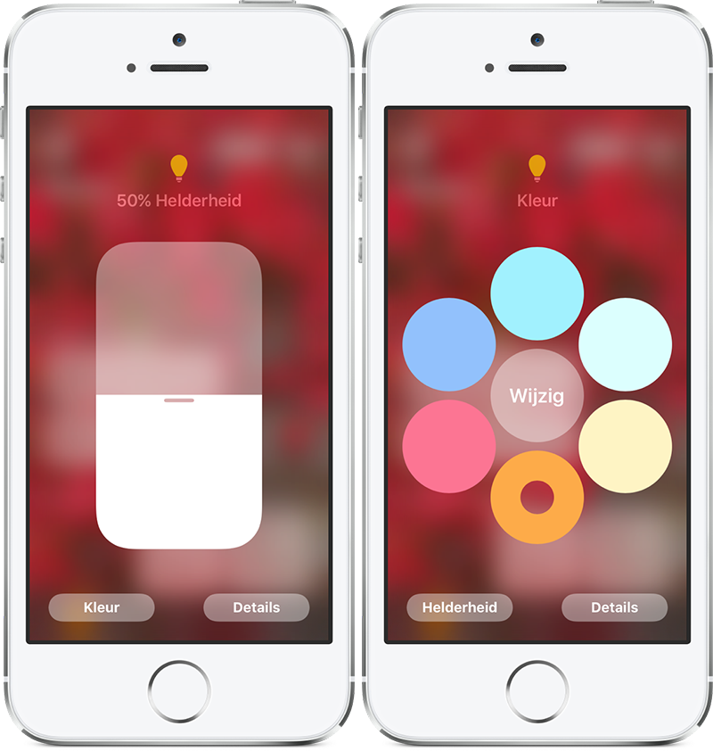 Woning-app: kleur instellen