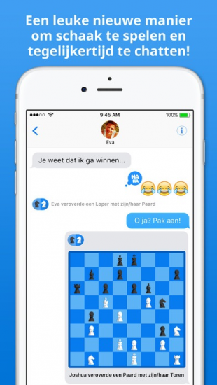 Spelletje schaken in je chat met Schaakmat!