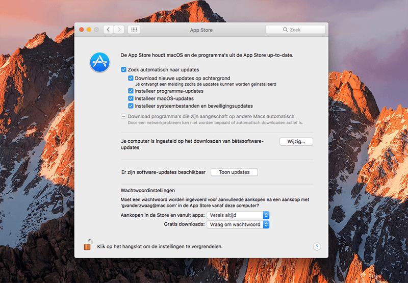 Afmelden betaprogramma macOS