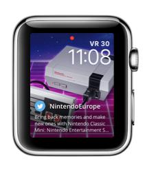 Glimpse op de Apple Watch met Nintendo-tweet.