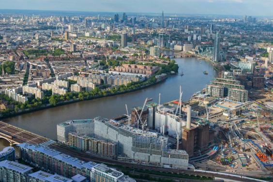 Het huidige Battersea Power Station in Londen
