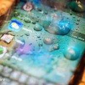 iPhone 7 review: waterdruppels op het scherm