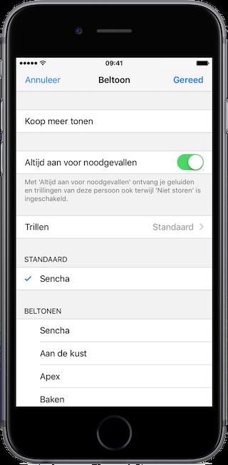 iOS 10 - altijd aan voor noodgevallen