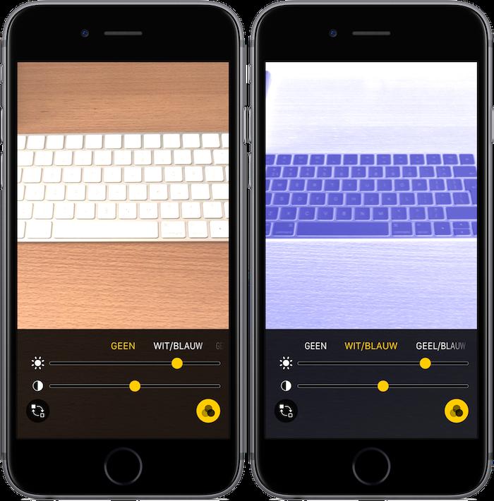 Vergrootglas iOS 10 - instellingen