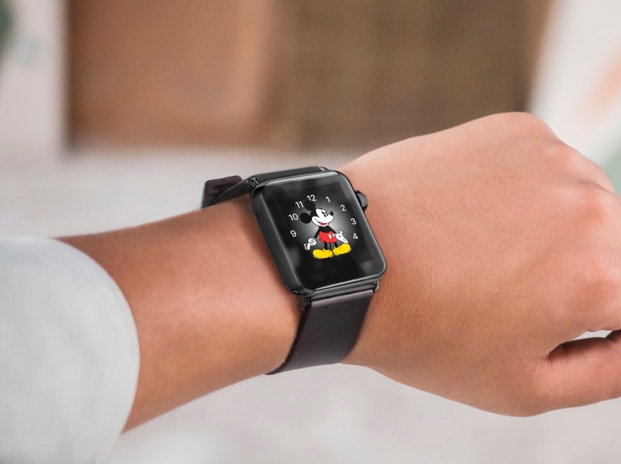 Mickey Mouse op de Apple Watch.