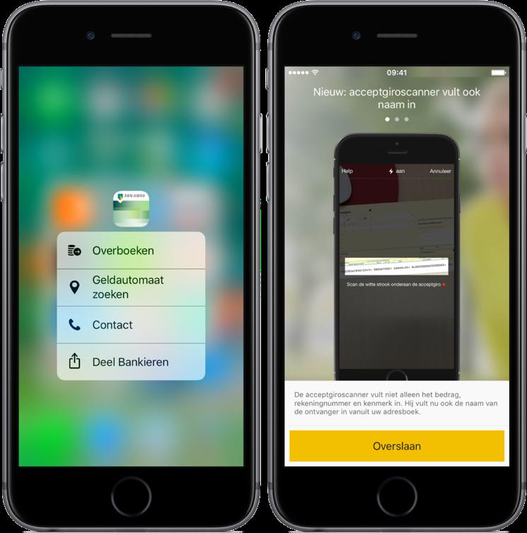 ABN AMRO-app heeft nu 3D Touch.