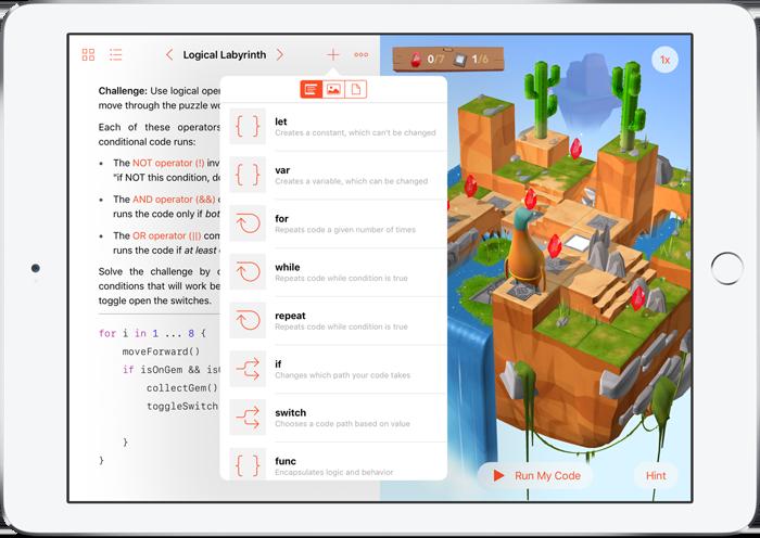 Swift Playgrounds: functies