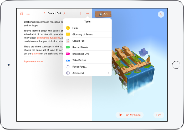 Swift Playgrounds: tools