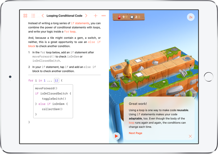 Swift Playgrounds conditionele code
