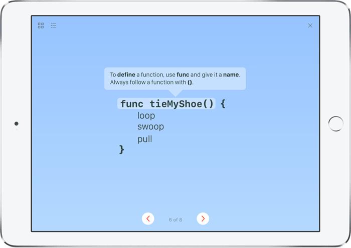 Swift Playgrounds: veters strikken met code