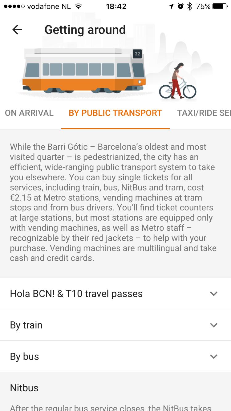 Google Trips geeft advies voor vervoer.