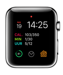 Airmail-complicatie op de Apple Watch.