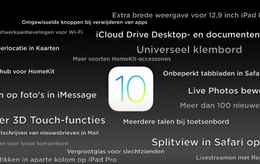 iOS 10 onbekende functies