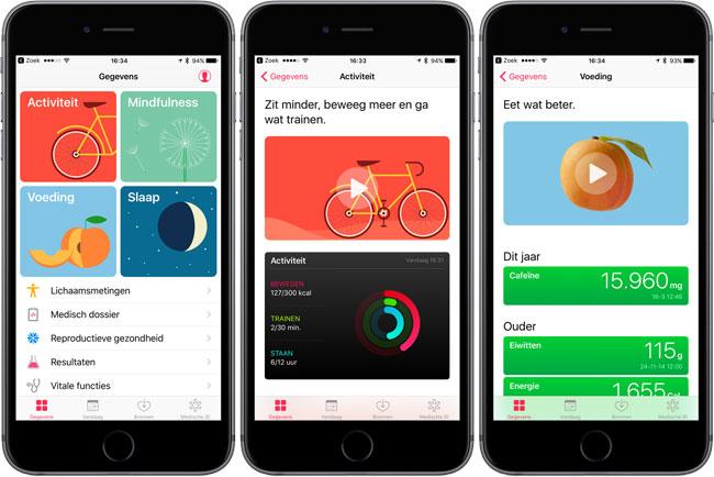 Gezondheid-app in iOS 10