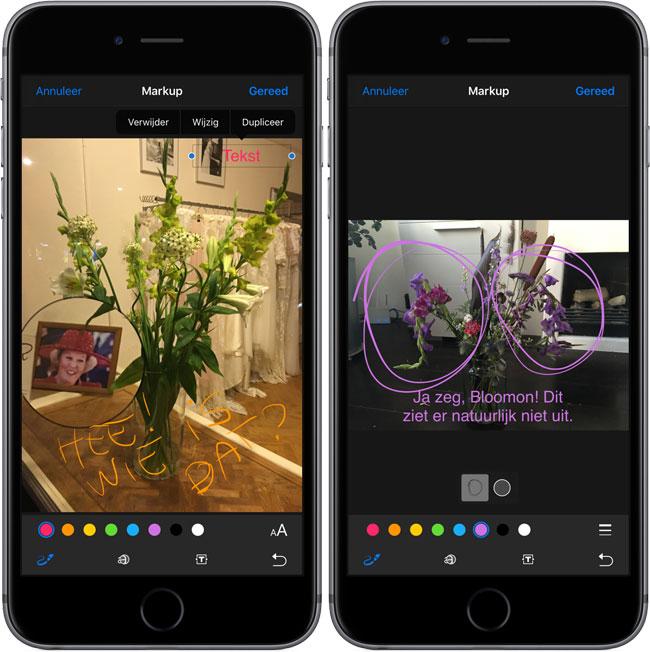 Tekenen op foto's in iOS 10