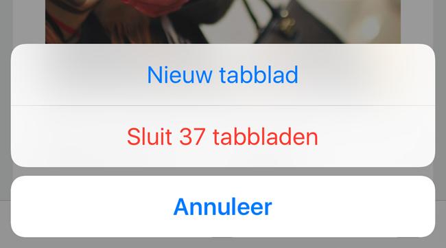 iOS 10 verbeteringen: Safari-tabbladen in één keer sluiten