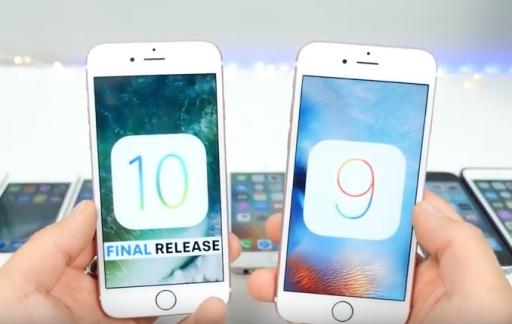Snelheidstest van iOS 10.