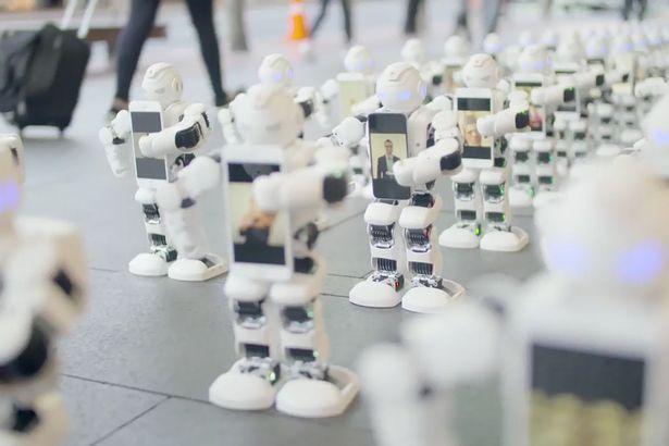 Robots van Spart in de rij