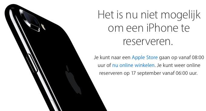 iPhone reserveren