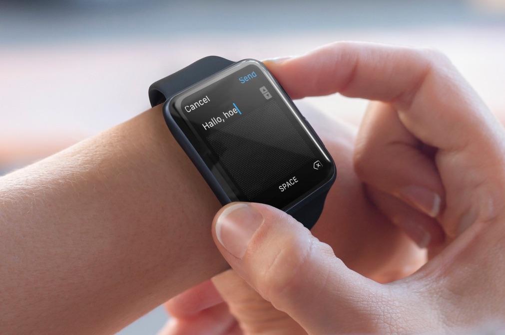 Scribble op de Apple Watch.