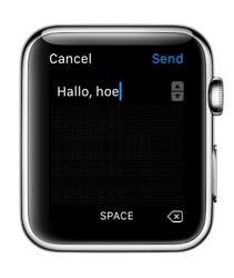 Scribble gebruiken op de Apple Watch.