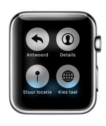 Apple Watch-opties voor Force Touch in de Berichten-app.