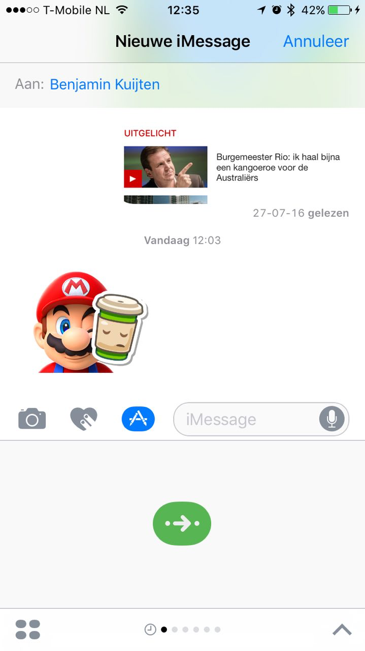 iMessage-app die niet opent.