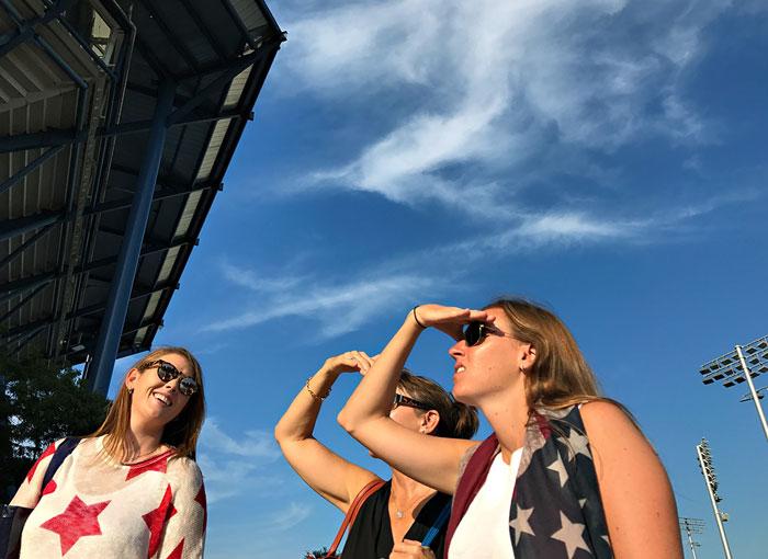 US Open foto's gemaakt met iPhone 7