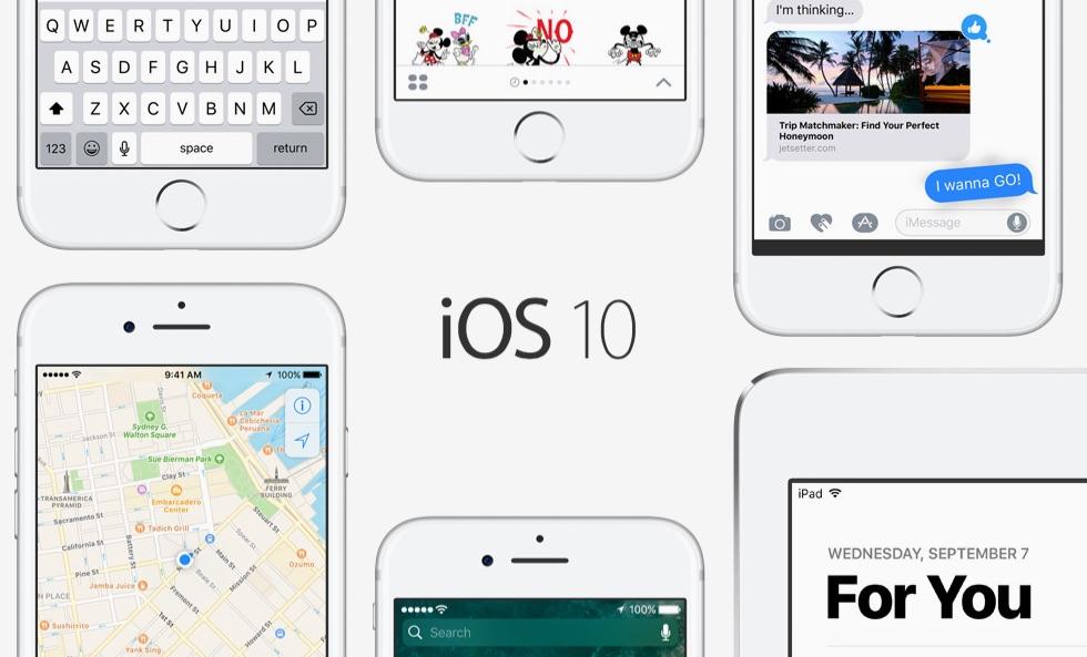 iOS 10 voor de iPhone, iPad en iPod touch.