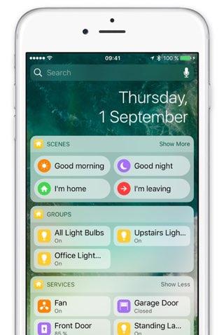 Home 2.0 app voor iOS