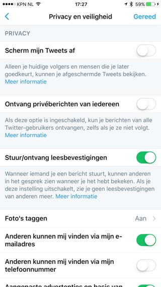 Twitter leesbevestiging