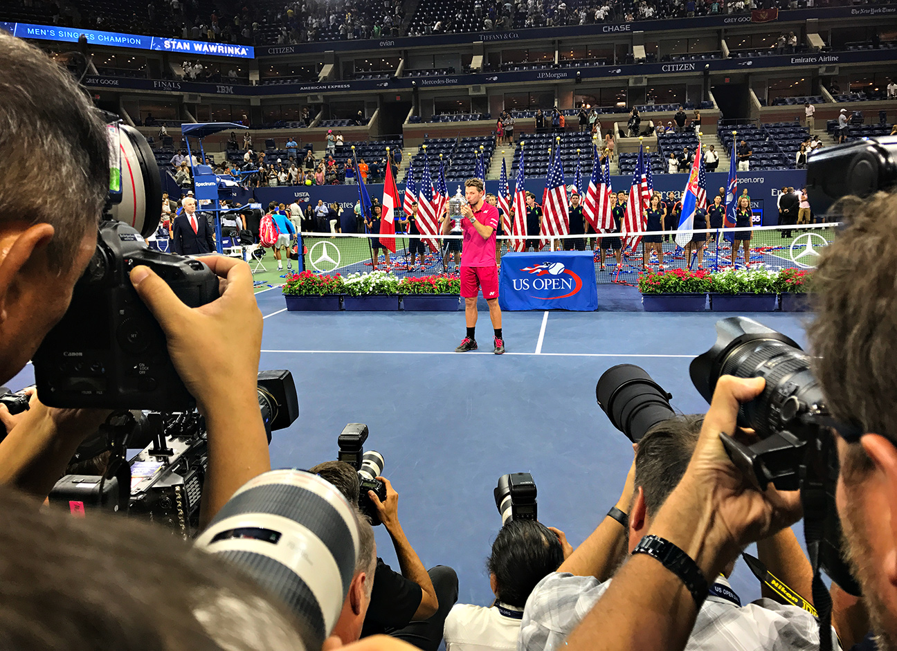 iPhone 7 Plus-foto's tijdens US Open.