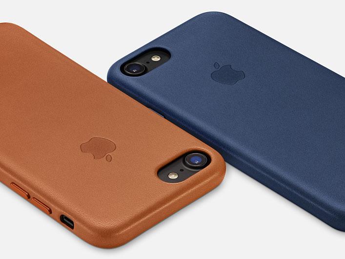 Apple-hoesjes van leer
