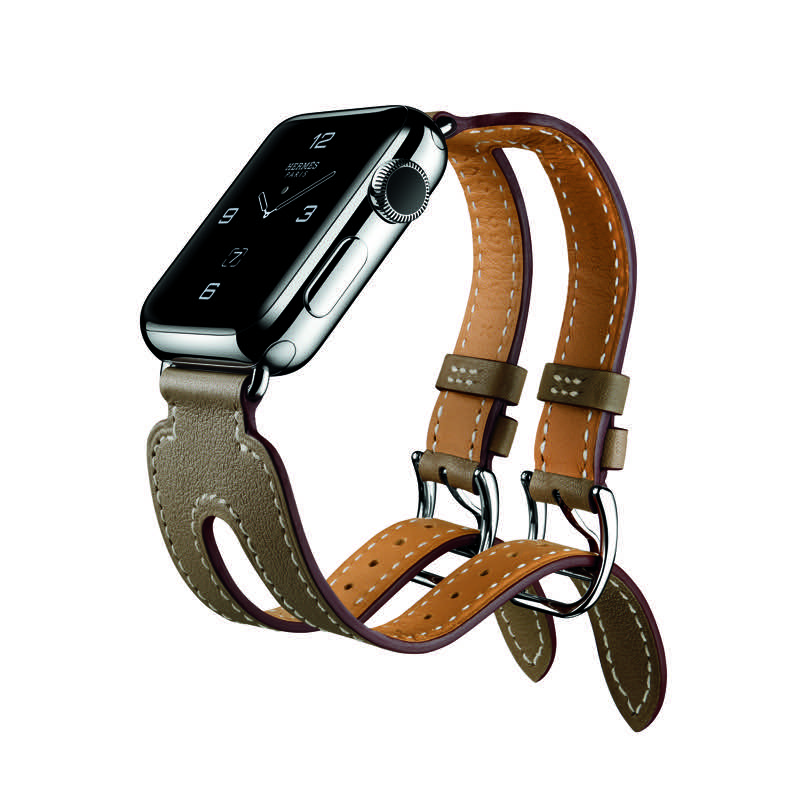 Apple Watch Series 2 met bandje van Hermes