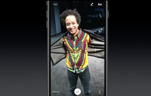 Ian Spalter van Instagram op de foto voor Apple Event