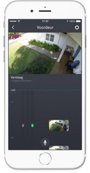 Nest Beeldlijn op de iPhone