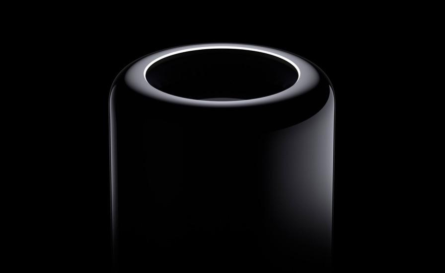 Zwarte Mac Pro uit 2013.