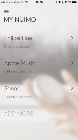 Nuimo van Senic met iOS-app.