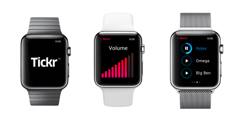 Tickr-app voor Apple Watch