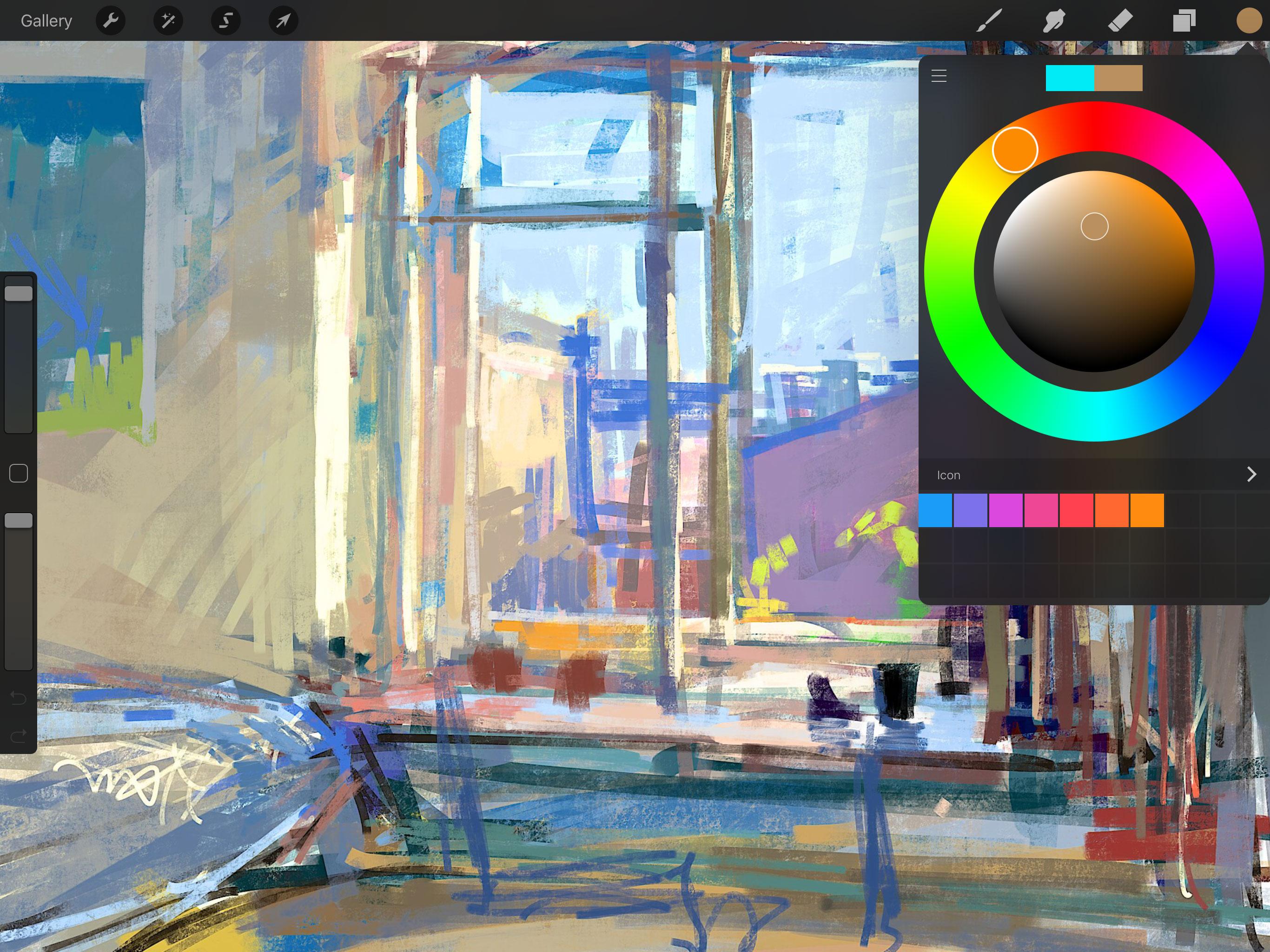 Creatief leren tekenen en schilderen op de ipad met procreate Digital art painting software