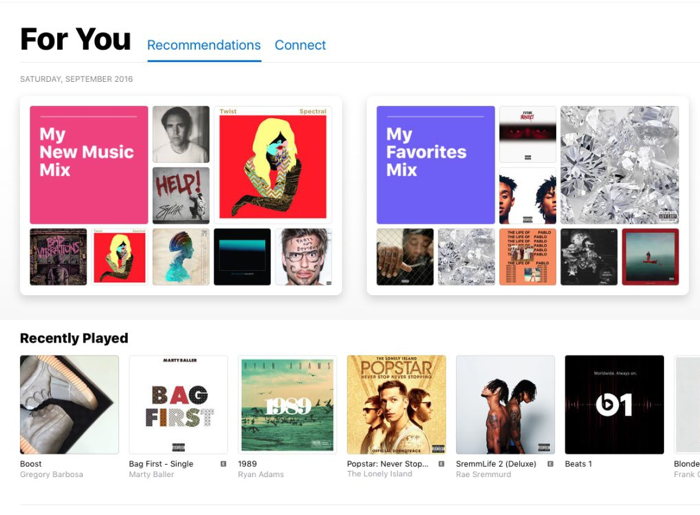 Apple Music: persoonlijke afspeellijsten in iOS 10