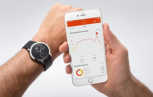 Withings Steel HR horloge met iPhone
