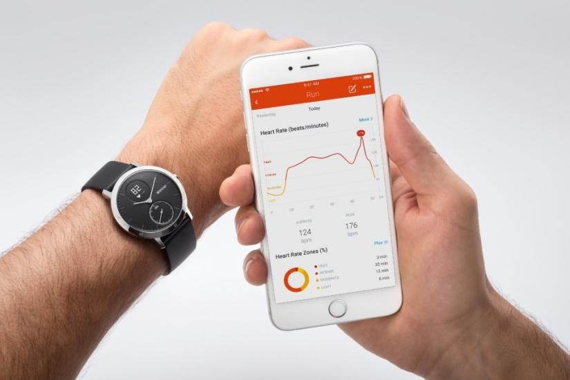 Withings Steel HR horloge met iPhone
