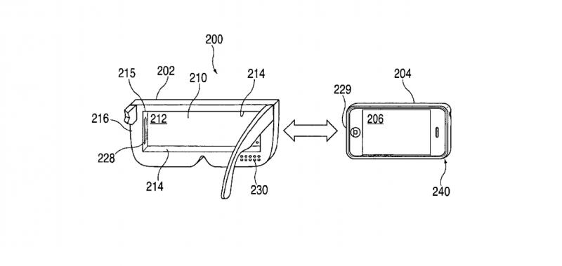 VR-bril voor iPhone patent