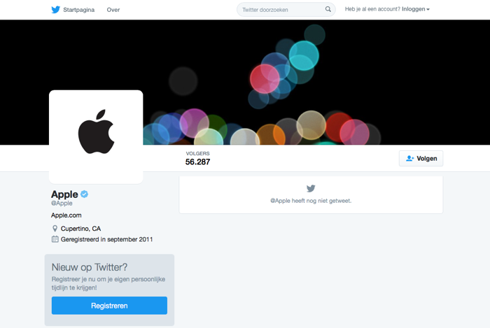 Apple Twitter-account