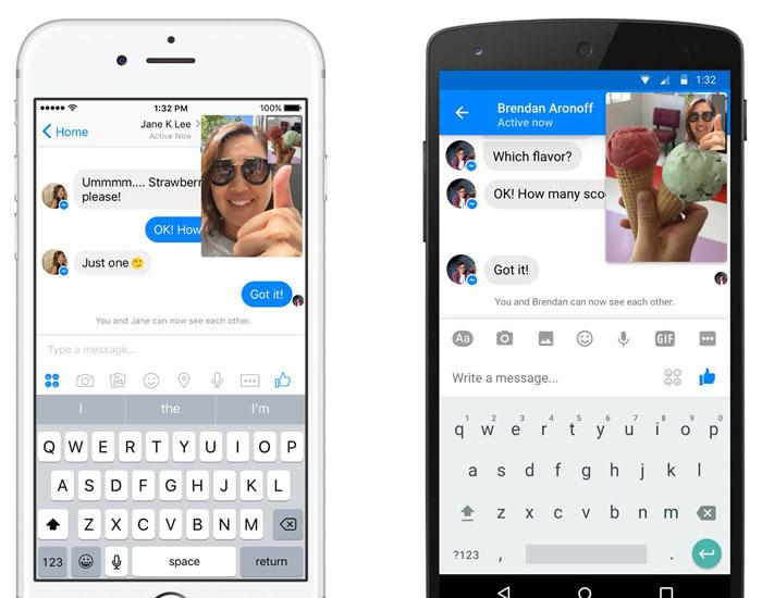 Facebook Messenger met Instant Video