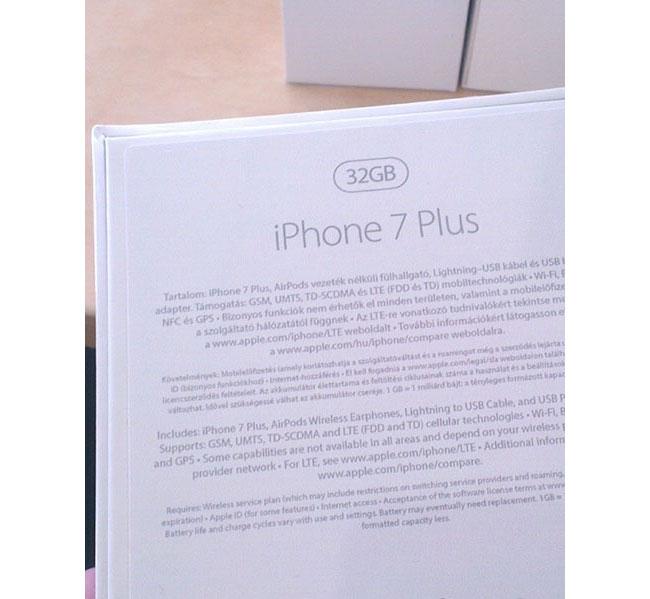 iPhone 7 doosje, achterkant