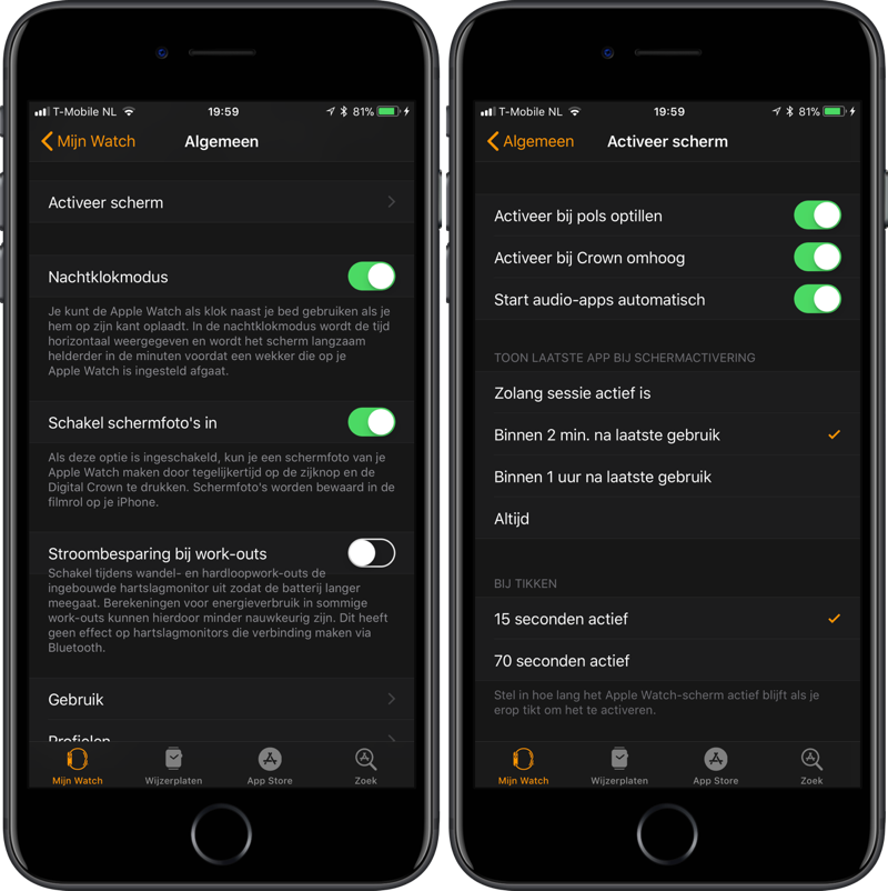 Ongemerkt klokkijken op Apple Watch