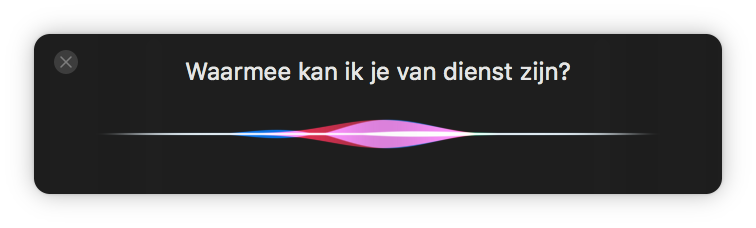 Siri macOS vraag