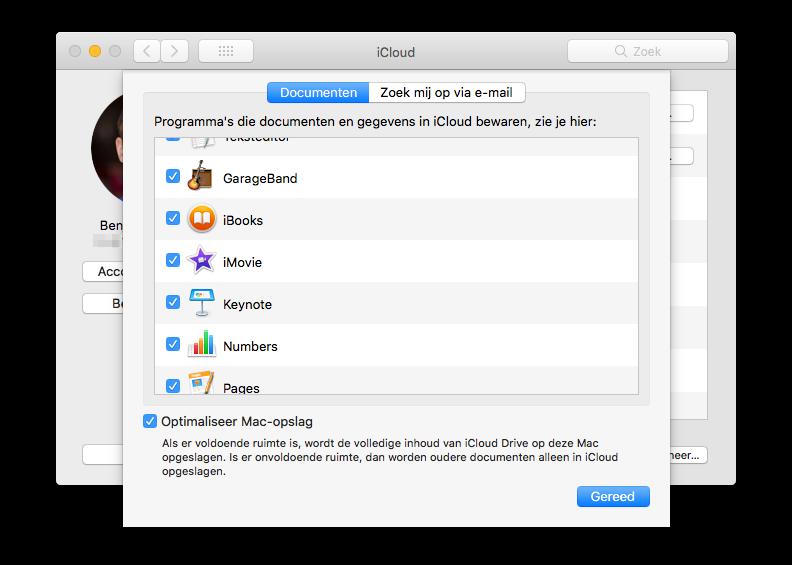 iBooks in iCloud op de Mac inschakelen.